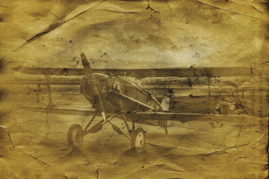 A Gentlemanly Pastime Vintage Cars Vintage Plane Jixipix Vintage Scene Fx Austin Cars Biplane Propeller Plane