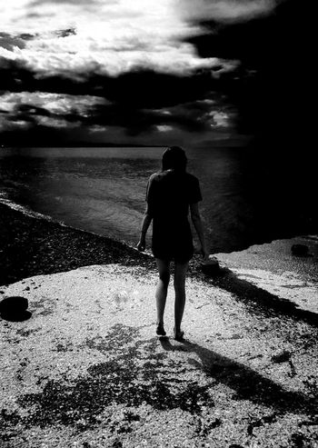 Lakescene Blackandwhite Photography Simplistic
