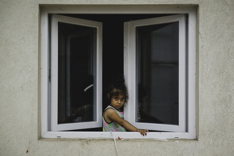 Refugee girl Boarders Building Exterior Cam Child Childhood Day Elementary Age Girl Girls Indoors  One Person Real People Refugees The Photojournalist - 2017 EyeEm Awards Window The Portraitist - 2017 EyeEm Awards The Portraitist - 2018 EyeEm Awards The Troublemakers