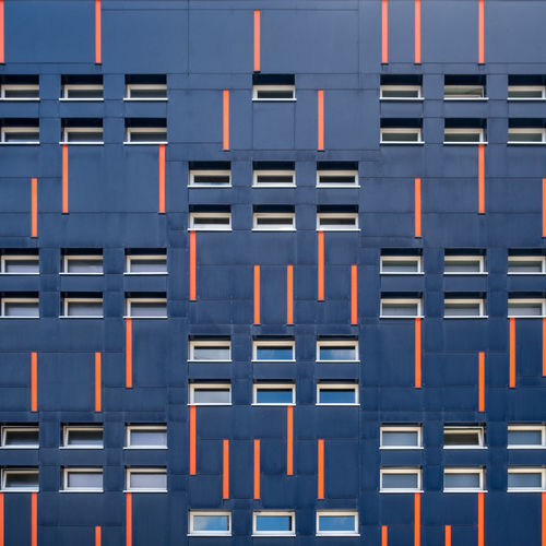 Facade Façade Pattern, Texture, Shape And Form Architecture Backgrounds Berlinmalism Blue Building Full Frame In A Row Minimalism Minimalist Photography  No People Outdoors Pattern Patttern Ralfpollack_fotografie Repetition Side By Side The Architect - 2018 EyeEm Awards