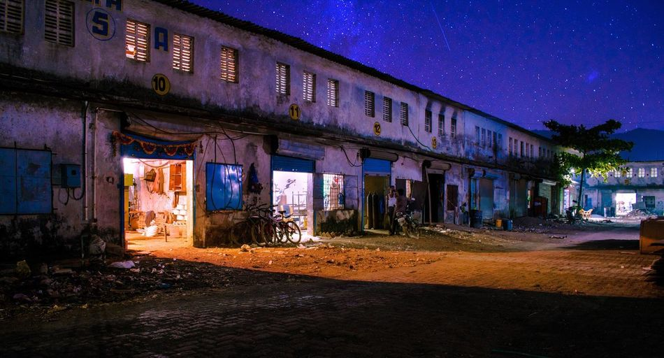 India - Glowing Night Night Built Structure Illuminated Sky Stars Industrial Mechanical Engineering Molding Welding Metal Work Woodworking Garage Neon Colors Glowing Sky_collection EyeEmNewHere
