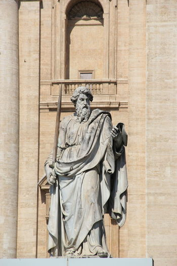 Statue of saint paul at st peter basilica
