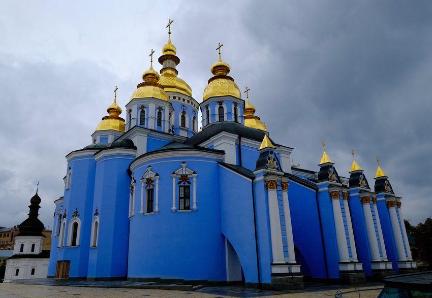 Kiev Ukraine Architecture Belief Building Cloud - Sky Kiew Low Angle View Place Of Worship Religion Spirituality Travel Destinations