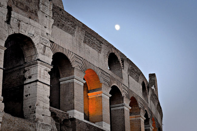 Architecture Built Structure Classic Architecture Dolce Vita Framed Lights Low Light Moon Night Lights Night Photography Travel Destinations Your Ticket To Europe Capture Tomorrow