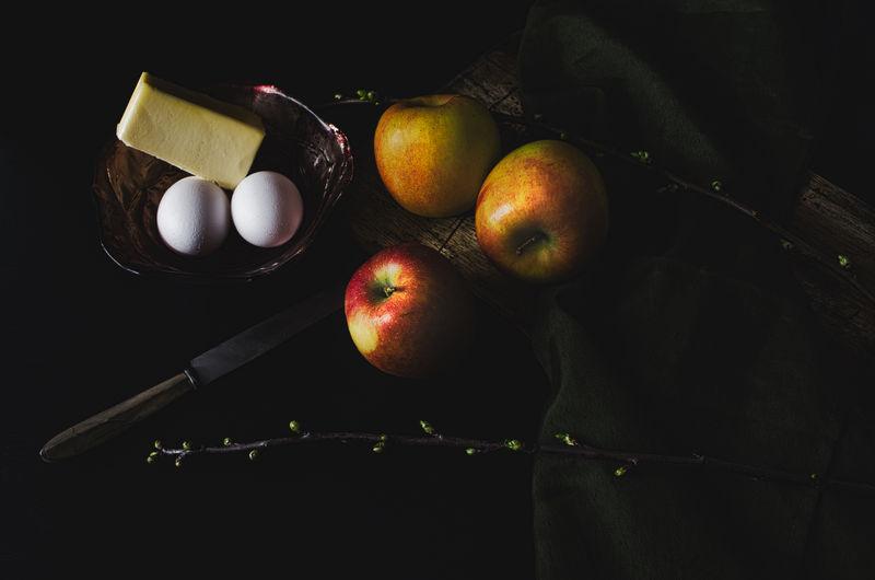 Apples, eggs