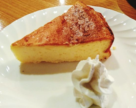 Cheese cake. Food No People Indoors  Sweet Food Dessert Close-up Sunset_collection 🇯🇵 Japan Japanese Food Lover Japanese Food Photo Cake Cake Time Cake Photography ❤ Cafeteria Cafe Break Cafe Shop Sweets チーズケーキ Summer Holidays Japan Photography Japan Photos