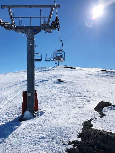 Up the mountain Mountain Snowboard Slopes Ski Snow Winter Nature Frozen Ski Lift No People