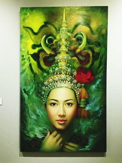 ชอบมากภาพนี้ที่พิพิธภัณฑ์ศิลปะ เขาใหญ่(นางช่างงามแท้)