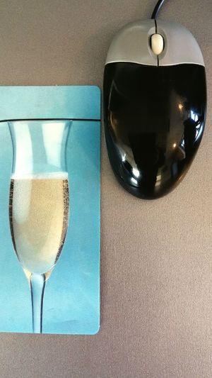 Mouse Table Close-up Drinking Glass Indoors  Drink Freshness Day No People Prosecco Proseccotime Mousepad Mouse Click Mouse Pad Blue