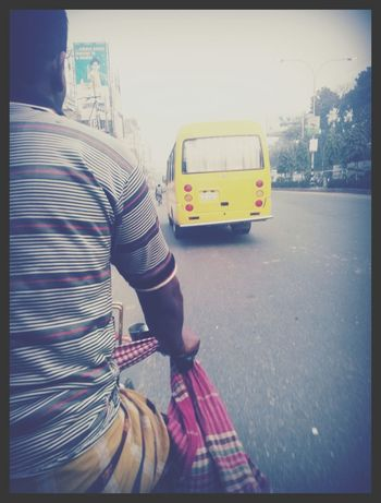 Rickshaw Riding! Composition In Orange And Yellow Beautiful Dhaka #cellphonephotography