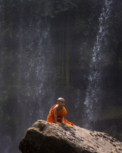 The Portraitist - 2019 EyeEm Awards My Best Photo Cambodia Rock Nature People Scenics - Nature Beauty In Nature Motion Flowing Water Outdoors Travel Traveling Waterfall EyeEm Best Shots EyeEm Nature Lover EyeEm Best Edits