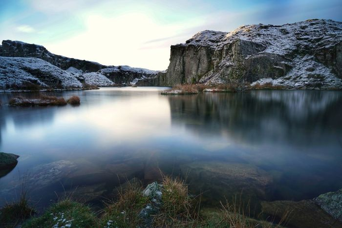 Mountain Nature Lake Scenics Rock - Object Reflection Landscape Full Frame Landscape_photography Dartmoor National Park Frozen Beauty In Nature Snow Outdoors Water Hiking No People Winter
