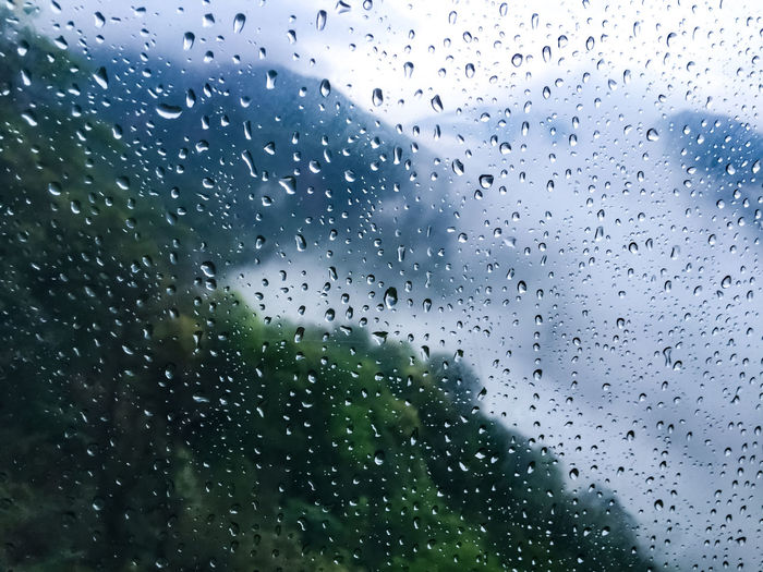 Backgrounds Close-up Dew Diffirent Feelings Full Frame Glass - Material Indoors  Mist-shrouded Mount Sanqingshan RainDrop Raindrops On The Window Rainy Season Scenery In The Rain First Eyeem Photo