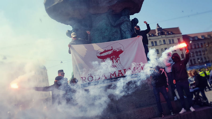 International Workers' Day May Day 2016 Revolution People Street Photography People Photography Androidography Andrography Activists Flares Smoke Spring Notes From The Underground