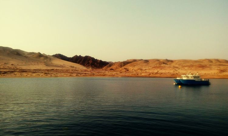 Outdoors Water No People Nautical Vessel Sea Day Nature Clear Sky Mountain Industry Beauty In Nature Sky Ras Mohamed Egypt EyeEmNewHere The Week On EyeEm Scenics Nature Tranquility Blue Ship