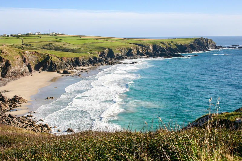 Sea Beauty In Nature Beach Nature Water No People Outdoors Landscape Travel Destinations Horizon Over Water Cliff Cornwall Uk England Bedruthan Steps Mawgan Porth Vacation Perspectives On Nature