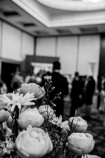 Flowers in the Hotel Function Room Arrangement Beauty In Nature Blooming Bouquet Close-up Decoration Event Flower Flower Head Focus On Foreground Formal Fragility Freshness Function Growth Hotel Nature No People Petal Plant Rose - Flower Selective Focus Wedding