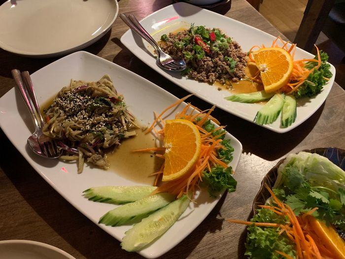 Thai food Thaifood Food And Drink Food Plate Freshness Ready-to-eat High Angle View Healthy Eating