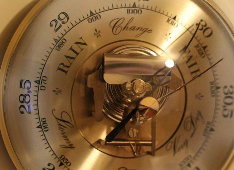 Close-up Indoors  Gold Old-fashioned Gold Colored Day Weather Photography Barometer