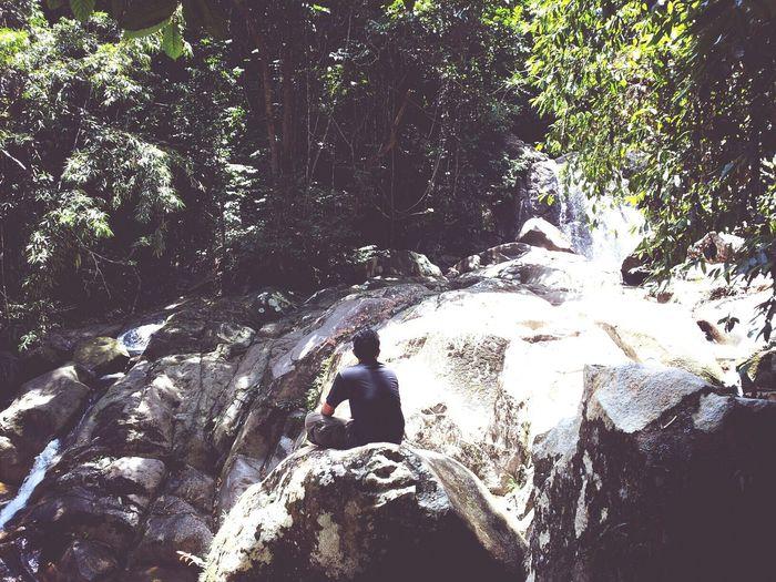 Relaxing Nature Rainforest Watching Waterfalls