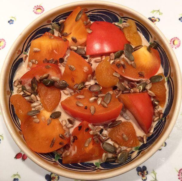 Persimmon Soyyoghurt Vegan Clean Eating