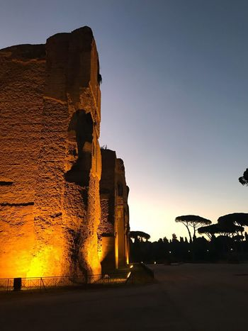 History The Past Ancient Old Ruin Built Structure Sunset Architecture Travel Destinations No People Outdoors Sky Ancient Civilization Clear Sky Day Nature Sunlight Sunrise Sunset Silhouettes Trees Rome Caracalla Terme Di Caracalla Baths Of Caracalla