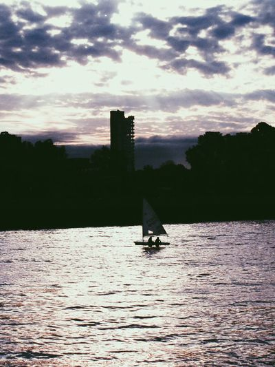 The Great Outdoors - 2017 EyeEm Awards Water Architecture Sky Silhouette Waterfront Sunset Built Structure Nature Building Exterior Cloud - Sky Outdoors Tree Nautical Vessel Sailing Day No People Beauty In Nature Scenics Lost In The Landscape
