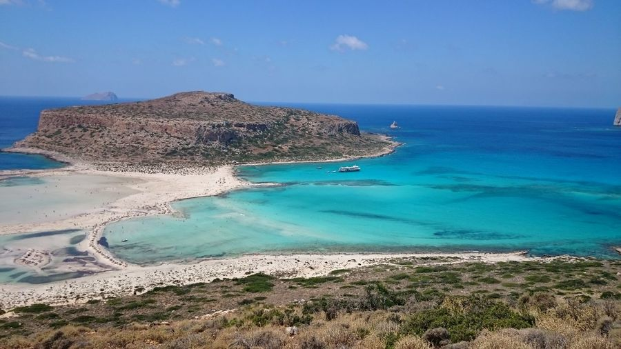 BALOS BACH Beach Beauty In Nature Blue Coastline Day Horizon Over Water Horizontal Idyllic Nature No People Outdoors Sand Scenics Sea Sky Tranquil Scene Tranquility Water