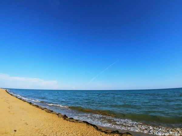 Water Wave Sea Clear Sky Beach Blue Sand Sky Horizon Over Water Coast