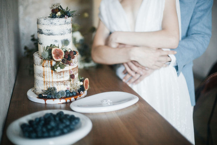 Table Food And Drink Food Indoors  Women Midsection Two People Sweet Dessert Freshness Adult Sweet Food Cake People Fruit Berry Fruit Plate Day Healthy Eating Real People Hand Temptation Wedding Wedding Photography Kiss