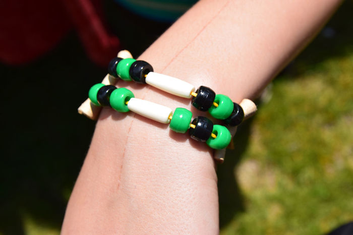 Native Bracelet - Craft Adult Bead Bracelet Bracelet Childrens Craft Close-up Day Human Body Part Human Hand Human Skin Men Native Crafts One Person Outdoors People Real People