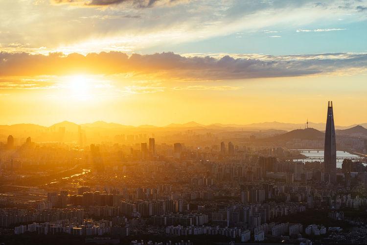 Seoul City Landscape Sun Light Sunset Sony A7R
