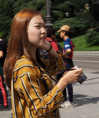 Lostintranslation Young Women EyeEm Street Photography Day Eye4photography  Photography Beautiful Woman EyeEm Gallery One Young Woman Only Long Hair Olympus OM-D E-M5 Mk.II Zuiko28mm Palacio Real, Madrid, Spain Tourist