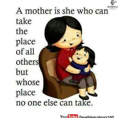 Loving mother That's Me Hello World