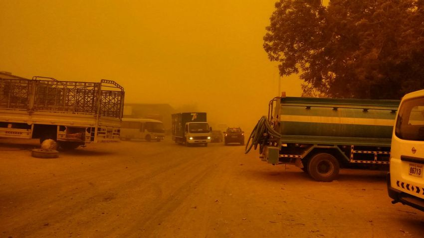 Its not sepia mode.. Itz sand storm...