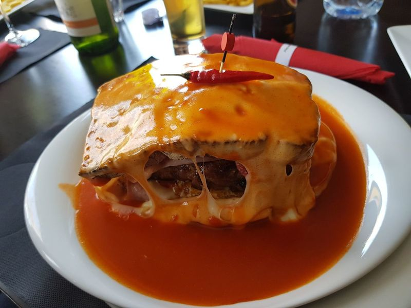 Francesinha Ponte De Lima Food And Drink Ready-to-eat Food Serving Size Plate Indoors  Freshness Unhealthy Eating No People Temptation Close-up Day