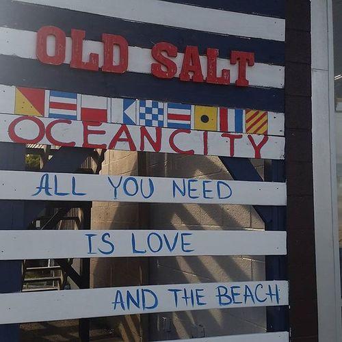 Sign at the Old Salt store... Oceancitycool OceanCity Maryland Ocmd Loveoc Shoplocaloc
