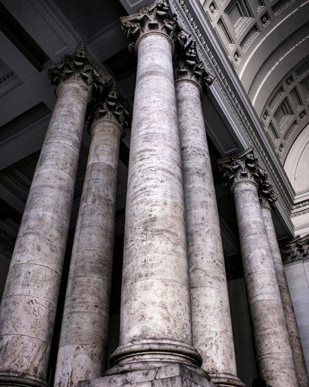 Low Angle View Built Structure Architecture Building Exterior Architectural Column City No People Pipeline Outdoors Day Textured  Lights Lights And Shadows Architecture Architecture_collection Rome Rome Italy🇮🇹 Palazzo Delle Esposizioni
