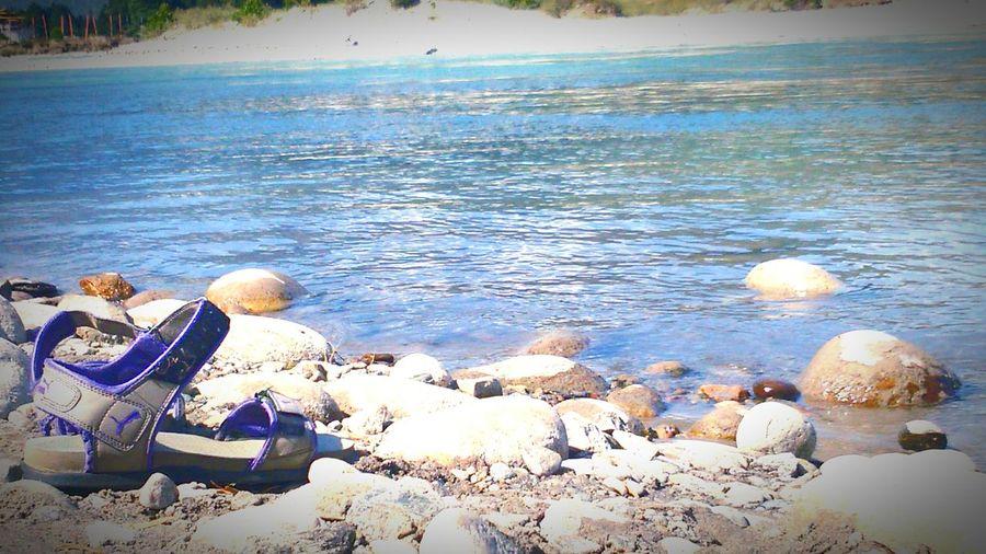 Beach Photography Puma Sandles. Blue Waters Freedom Sony Xperia M2 Dual Stones Sand