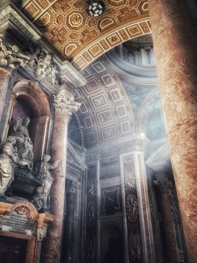Cathedral Sacral Architecture Light And Shadow Light Spirit Vatican Saintpetersbasilica Italy Mysterious Life Liveinlove Liveinpeace