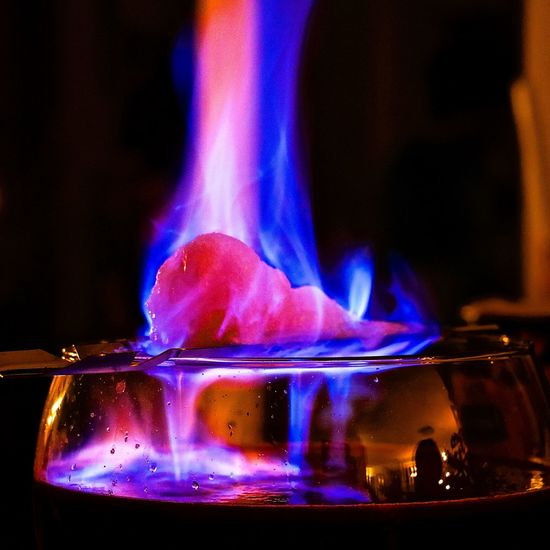 Burning Close-up Feuerzangenbowle Fire Fire Colours Heat - Temperature Indoors  Night