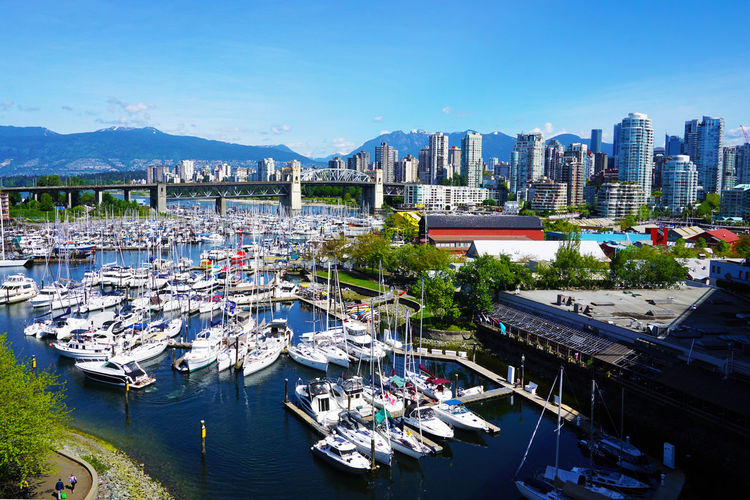 2016 Architecture Building Exterior Canada City Cityscape Harbor Mountain Nautical Vessel Outdoors Sailboat Ship Sky Tree Vancouver Water カナダ バンクーバー 風景