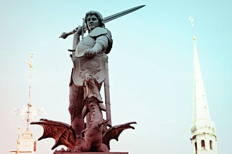 Architecture Art Fantasy Character Dragon Image Imagination Imaginationarts Shape Shield Statue Sword Riga Latvia Gradient Statue