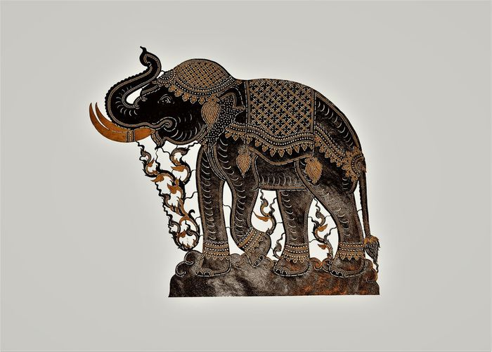 sculpture elephant by skin of cown ASIA Beautiful Nature Thailand Animal Representation Animal Themes Art Art And Craft Carving Decoration Elephant Handmade Material Sclupture Skin Of Cown