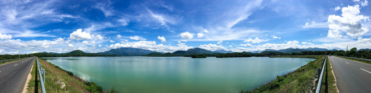Loggal Oya Reservoir Lake And Mountain Landscape_Collection Loggal Oya Mother Nature Panorama Rural Rural Scenes Sri Lanka Vivid Colours  Beauty Of Srilanka Blue Sky Cononphotography Country Photography Green Lake Park Lake Lakeside Landscape Mountain Range