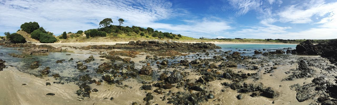 Sea Beach Rock - Object Water Coastline Outdoors Landscape Fossil Sky Nature No People Coastal Feature Rocky Coastline Sand Scenics Day New Zealand Stones Rocks Sand