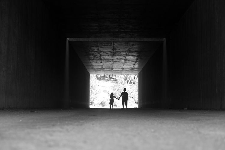 Kids Kids Being Kids Light Silhouette Adult Architecture Below Built Structure Day Full Length Indoors  Kidsphotography Men People Real People Tunnel Under The Great Outdoors - 2018 EyeEm Awards The Traveler - 2018 EyeEm Awards
