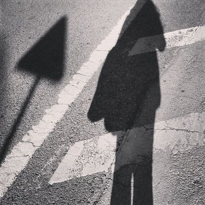 In this direction (photo of day no.8) Shadow Path People Road photoofday photography instagramers ig_algarve_ iggersportugal portugaloteuolhar portugaldenorteasul desculpashamuitas triangle blackandwhite instapassport instadaily instalike instaphoto instagood instacool ontheroad Olhão direction p3top p3 trafficsignal EN125 Portugal gallery_of_bw