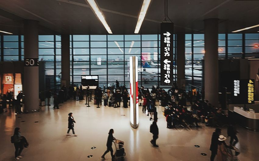 Group Of People Architecture Real People Built Structure Transportation Crowd Large Group Of People Day Indoors  Airport Mode Of Transportation Men Railroad Station Travel Walking Lifestyles Women City Airport Terminal Ceiling