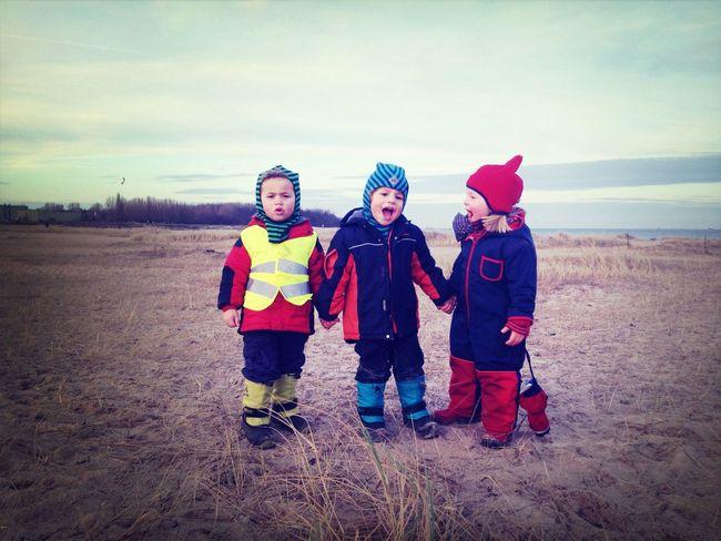 Sean, Noah und Greta.